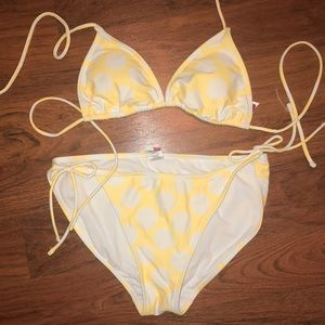 OP polka dot bikini set